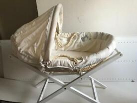 Mamas & Papas Moses basket with stand and matress £20 ONO
