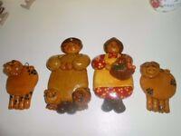 Set of Country salt dough figures