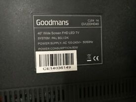 "40"" Goodmans FHD LED TV"