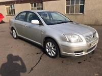 2004 TOYOTA AVENSIS 2.0 D-4D T3-S DIESEL FAMILY SALOON WITH SAT NAV