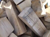 Large Solid Oak Blocks in Large Ton Builders Bag for Firewood or Wood Turning