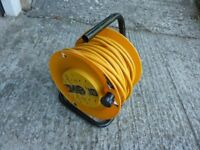 Electric cable on reel JCB 30m 4socket 13A 240 V