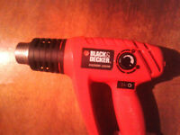 BLACK AND DECKER KX2000K HEAT GUN KIT