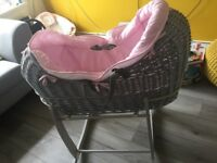 Baby Moses basket. Barely used