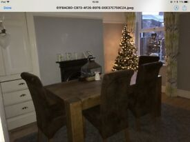 Brown Faux Leather High Back Dining Chairs