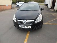 2009 09 VAUXHALL CORSA 1.3 CDTI ECO LIFE DIESEL 3DR HATCH MET BLACK NEW MOT PAS CD GOOD CONTITION