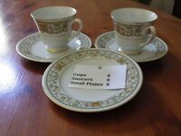 Noritake Tea Service, 6 cups, saucers and small plates, as new