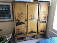 Antique cupboard, chinoiserie