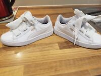 Girls size 1 pumas in excellant condition to small for my daughter now