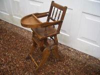 Edwardian Childs High Chair