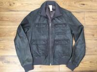 Men's Grey Leather Jacket - Old / New Stock