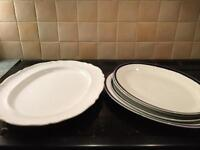 5 Large Serving Plates