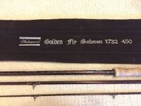 2 x Shakespeare Golden Fly Salmon 1732 fly rods