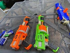 Four Nerf Guns