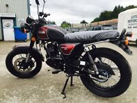 New Bullit Hunt S Bordeaux 125cc Motorcycle - 2 Year Parts Warranty Finance - Available