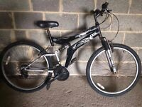 """26"""" DUNLOP SPECIAL EDITION BLACK/ SILVER 26 INCH MOUNTAIN BIKE, UNISEX BICYCLE, MEN'S/WOMEN 18 SPEED"""