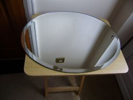 Mirror; wall mirror, oval in shape, perfect condition