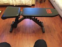 Pro Power Adjustable Weight Training Lifting Bench USED