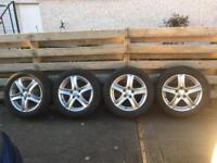 Set of 4 Winter tyres on 16 inch alloy wheels, fit VW Caddy maxi.