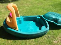 Little Tikes boat paddling pool/ sand pit with bell and wheel