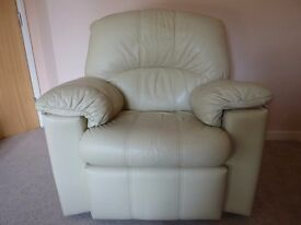 G-Plan Chloe Leather Armchair in Ivory
