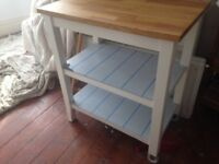 Brand new..Solid oak top kitchen trolley