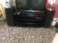 Big tv stand black marble