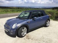 Mini Cooper Convertible, 2004, low mileage, one owner, Chilli pack extras