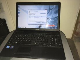 Toshiba Satellite C660-1PD, Intel i3, RAM 6GB, HD 360GB, charger, Windows 7