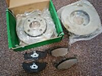 BREAK DISCS AND PADS - VOLKSWAGEN POLO 2000 1390cc 6N2