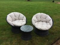 Rattan Swivel Chairs