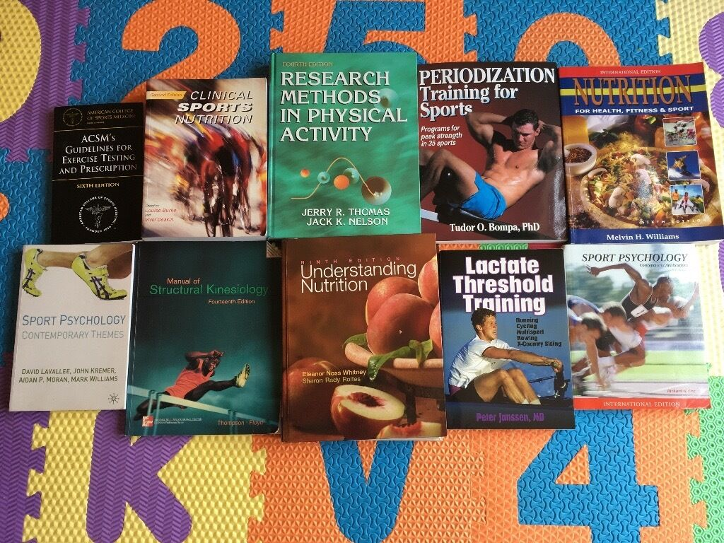 Sport science/studies textbooks (degreein Newcastle under Lyme, StaffordshireGumtree - Range of sport science related textbooks for sale. Bought when studying a sport and exercise science degree at university and were incredibly useful. Could split if interested, collection if interested in all as they are heavy! Could post individual...