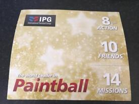 IPG Paintball Experience 10 x tickets (£30 each) plus bullets