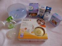 Medela Swing Electric Breast Pump inc Avent steriliser, MAM hand pump,shells etc