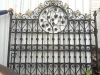 Stunning Forged Wrought Iron Gate