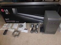 LG SH7 360W 4.1Ch MusicFlow Sound Bar with Sub Woofer - Silver