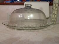 Cake display dome large glass