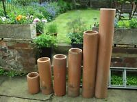 """Clay drainage pipes 7 1/2"""" diameter various lengths to be used for plant pots or drainage pipes"""