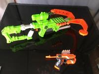 Nerf Zombie Crossbow and gun