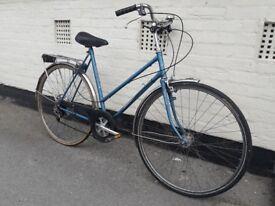 GENUINE LADIES DUTCH BIKE BICYCLE BLUE SUPER SPORT MADE IN HOLLAND