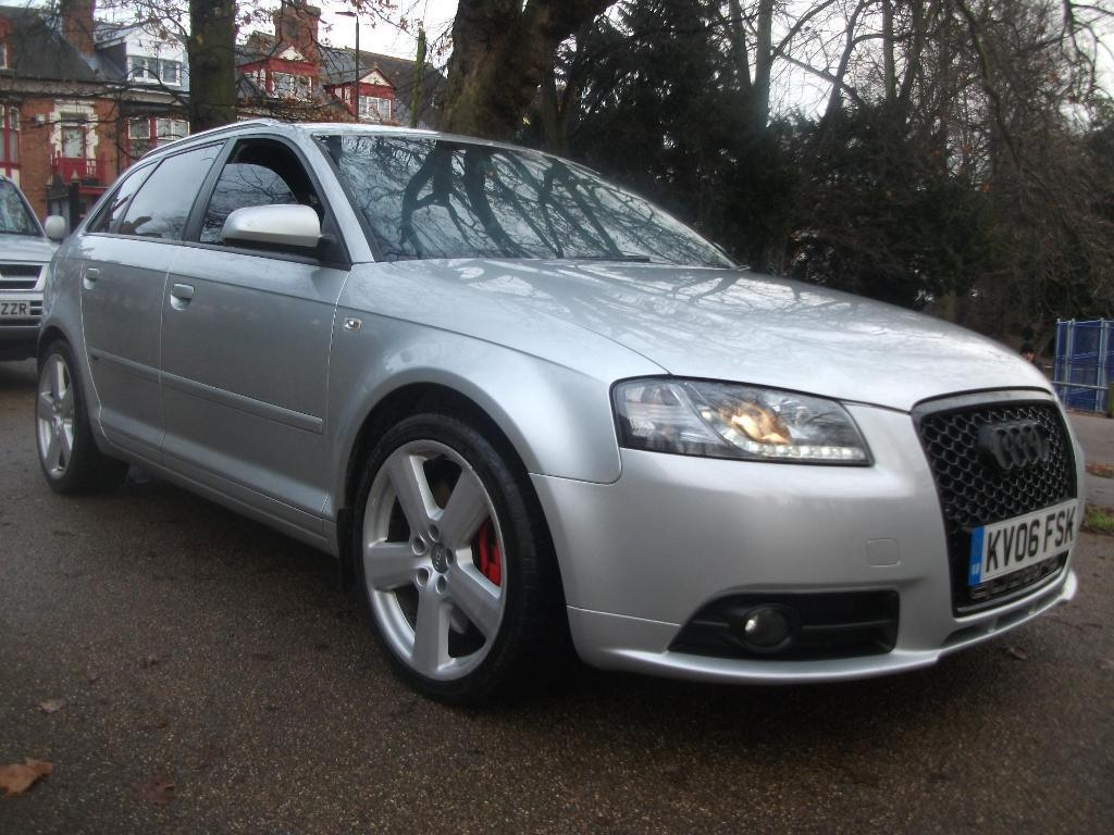 audi a3 3 2 v6 quattro s line 5dr dsg sports exhaust finance available mint silver 2006 in. Black Bedroom Furniture Sets. Home Design Ideas