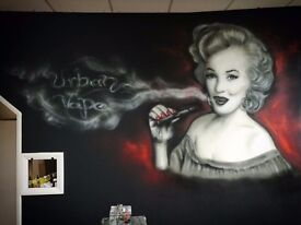 Graffiti murals and workshops,get in touch now!