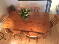 Dining table & 6 chairs (all wood and perfect condition)