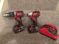 Milwaukee 18v Impact drill and drill