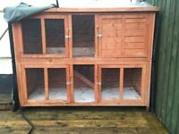 Rabbit hutch two storey