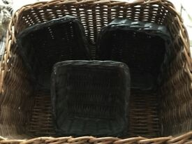 Large Wicker Basket, Suitable for Logs or Just Storage, plus 3 Small Baskets