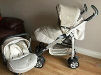 Silver Cross Pram/buggy- Ventura 3d Travel System – Vintage Cream