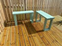 2 X Solid Wood Garden Benches