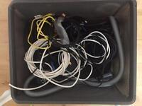 Bundle of various cables / elecronics
