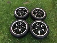 Wolfrace Alloy wheels will fit Mini Cooper BMW possibly others as is a multi fit